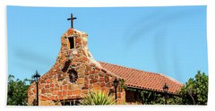 Stone Church New Mexico Beach Towel
