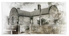 Beach Towel featuring the photograph Stone Cottage by Wayne Sherriff