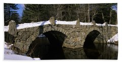 Stone Double Arched Bridge - Hillsborough New Hampshire Usa Beach Towel