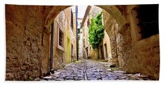 Stone Town Of Groznjan Old Street  Beach Sheet by Brch Photography