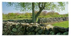 Stone Wall In Rhode Island Beach Towel