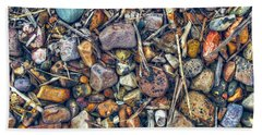 Beach Towel featuring the photograph Dry Creek by Wayne Sherriff