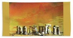 Stonehenge Ruins Beach Sheet by Ryan Fox