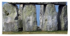 Stonehenge Beach Sheet by Travel Pics