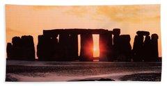 Stonehenge Winter Solstice Beach Towel