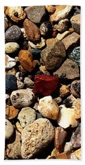 Beach Towel featuring the photograph Stones 160422 by Jeff Iverson
