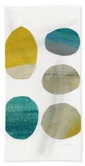 Stones- Abstract Art Beach Towel