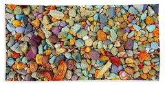 Stones And Barks On Beach Beach Towel