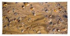 Stones In A Mud Water Wash Beach Towel