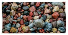 Stones Of Lake Superior Beach Sheet by Rachel Cohen