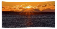 Beach Towel featuring the photograph Stonington Point Sunrise by Kirkodd Photography Of New England