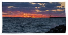 Beach Towel featuring the photograph Stonington Point Sunset by Kirkodd Photography Of New England