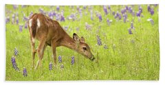 Stop And Smell The Bluebonnets. Beach Towel