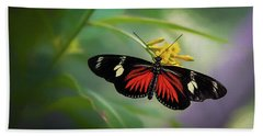 Butterfly, Stop And Smell The Flowers Beach Towel