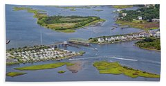 Stopping Traffic Topsail Island Beach Towel