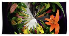 Store Bought Lilies Beach Towel