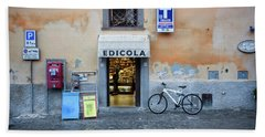 Storefront In Rome Beach Towel