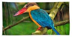Stork-billed Kingfisher Beach Towel
