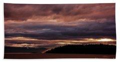 Storm 3 Beach Sheet by Elaine Hunter