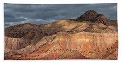 Storm Above Ghost Ranch Mountains Beach Towel