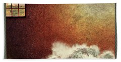 Storm Against The Walls Beach Towel