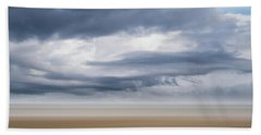Storm Approaching Beach Sheet