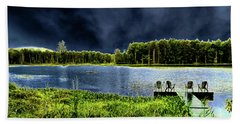 Beach Towel featuring the photograph Storm Approaching The Pond by David Patterson