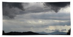 Storm At Lewis Fork Overlook 2014b Beach Towel