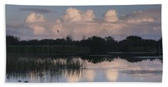 Storm At Sunrise Over The Wetlands Beach Towel