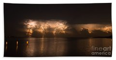 Storm Before Dawn Beach Towel by Quinn Sedam