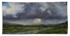 Storm Brewing Over The Refuge Beach Towel