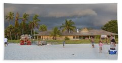 Beach Sheet featuring the photograph Storm Clouds Arriving by Carol  Bradley