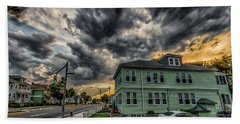 Storm Clouds At Sunset Beach Sheet