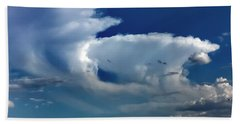 Beach Towel featuring the photograph Storm Clouds by Chris Tarpening