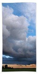 Storm Clouds Falling Vertical Beach Towel