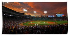 Storm Clouds Over Fenway Park Beach Towel