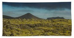 Storm Clouds Over Iceland Beach Towel