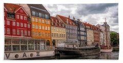 Storm Clouds Over Nyhavn Beach Sheet