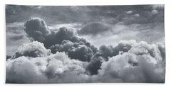 Storm Clouds Over Sheboygan Beach Towel