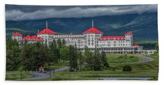 Storm Clouds Over The Mount Washington Hotel Beach Towel