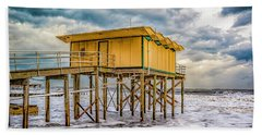 Beach Sheet featuring the photograph Storm Clouds Over The Ocean by Nick Zelinsky