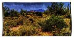 Storm Clouds Over The Sonoran Desert In Spring Beach Towel