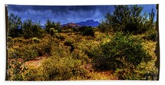 Storm Clouds Over The Sonoran Desert In Spring Beach Sheet