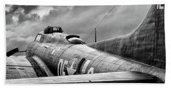 Storm Couds Over Memphis Belle - 2017 Christopher Buff, Www.avia Beach Towel