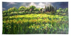 Storm In Tuscany Beach Towel