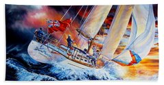 Beach Towel featuring the painting Storm Meister by Hanne Lore Koehler