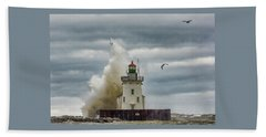 Storm On Lake Erie Beach Towel