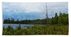 Storm On Raquette Lake Beach Towel