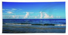 Beach Sheet featuring the photograph Storm On The Horizon by Gary Wonning