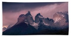 Beach Towel featuring the photograph Storm On The Peaks by Andrew Matwijec